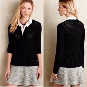 Anthro Angel of the North]Black Pointelle Cardigan
